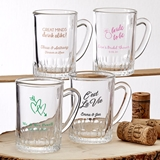 Silkscreened Glassware Personalized 3oz Mini Glass Mug with Handle