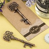 FashionCraft Antiqued Copper Finish Metal Skeleton Key Bottle Opener