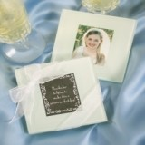 FashionCraft Glass Photo Coasters (Set of 2)