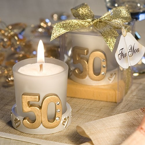FashionCraft Golden Anniversary Candle Favor