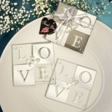 FashionCraft Mirror Finish Love Coasters (Set of 2)