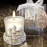 FashionCraft Once Upon a Time Fairy Tale Castle Candle Holder & Candle