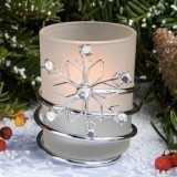 FashionCraft Intricate Snowflake Candleholder