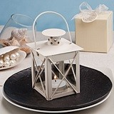 "FashionCraft ""Love Lights the Way"" Ivory Metal Lantern"