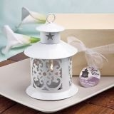 FashionCraft Fabulous White Metal Lantern Favor
