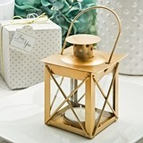 FashionCraft 'Love Lights the Way' Matte Gold Finish Luminous Lantern