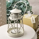 FashionCraft Lighthouse Shaped Luminous White Coated Metal Lantern