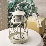 FashionCraft Lighthouse Shaped Luminous White Coated Metal Lantern