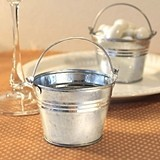 FashionCraft Miniature Galvanized Metal Buckets (Set of 10)