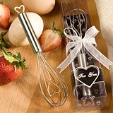 FashionCraft Heart Design Wire Whisk Favor