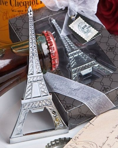 an evening in paris eiffel tower silver tone bottle opener personalized gifts and party favors. Black Bedroom Furniture Sets. Home Design Ideas