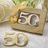 50th Design Golden Bottle Opener (Anniversary or Birthday)