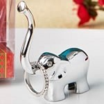 FashionCraft Silver Metal Good Luck Elephant Ring and Jewelry Holder