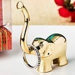 FashionCraft Gold Metal Good Luck Elephant Ring and Jewelry Holder