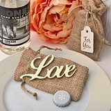 "FashionCraft Shabby Chic Gold Script ""Love"" Bottle Opener"