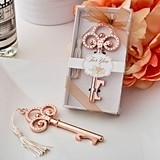 Rose Gold Finish Vintage Inspired Skeleton Key Bottle Opener