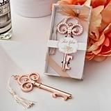 Rose Gold Finish Vintage Inspired Skeleton Key Bottle Opener