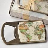 FashionCraft Vintage Travel-Themed World Map Design Bottle Opener
