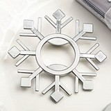 FashionCraft Snowflake Design Silver-Colored Metal Bottle Opener