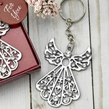FashionCraft Silver Angel with Inlaid Rhinestones Key Chain