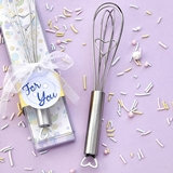 FashionCraft Heart Design Baby-Themed Wire Whisk Favor