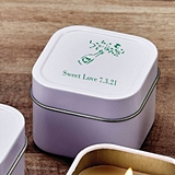 Personalized Screen-Printed Scented Travel Candle Tin (Anniversary)
