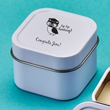 Personalized Screen-Printed Scented Travel Candle Tin (Graduation)
