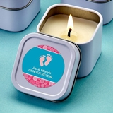 FashionCraft Personalized Expressions Travel Candle Tin (Baby Shower)
