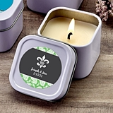 FashionCraft Personalized Expressions White Scented Travel Candle Tin
