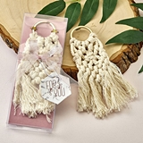 FashionCraft Macrame Boho Key Chain with Gold Ring