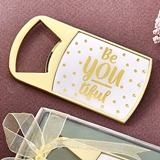 Fashioncraft 'Be-You-Tiful' Polka Dot Design Gold-Metal Bottle Opener