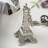 FashionCraft Silver-Metal Key Chain with Eiffel Tower Charm