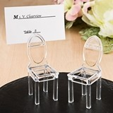 FashionCraft Acrylic Formal Reception Chair-Shaped Placecard Holder