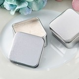 Perfectly Plain Collection Square Silver-Metal Travel Candle Tin