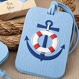 FashionCraft Nautical-Themed Anchor Motif Rubber Luggage Tag