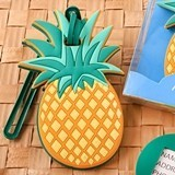 FashionCraft Tropical-Themed Pineapple-Shaped Rubber Luggage Tag