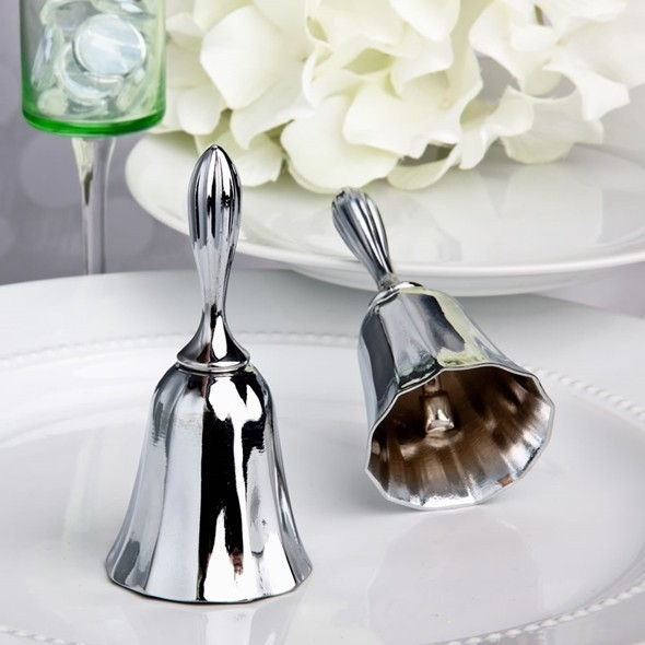 FashionCraft Elegant Silver-Plated Wedding Bell