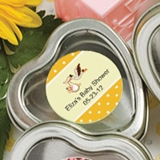 Personalized Expressions Heart-Shaped Mint Tin (Baby Shower)