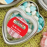 FashionCraft Personalized Expressions Heart-Shaped Mint Tin (Holiday)