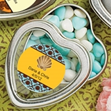 FashionCraft Personalized Expressions Heart-Shaped Mint Tin (Wedding)