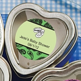 Personalized Expressions Heart-Shaped Candle Tin (Baby Shower)