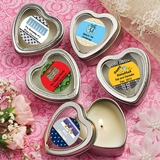 Personalized Expressions Heart-Shaped Candle Tin (Holiday)