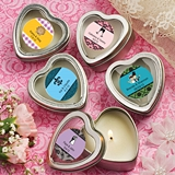 Personalized Expressions Heart-Shaped Candle Tin (Wedding)