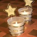 FashionCraft Gold Star Design 50th Anniversary Celebration Favor