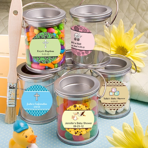 FashionCraft Design Your Own Personalized Mini Paint Can (Baby Shower)