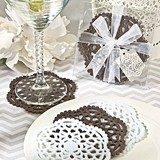 Vintage Lace-Like Felt Coasters w/ Crochet-Inspired Design (Set of 4)