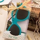 FashionCraft Fun Teal Blue Sunglasses-Themed Luggage Tags