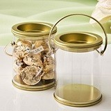 FashionCraft Mini Paint Can with Gold-Colored-Metal Lid and Handle
