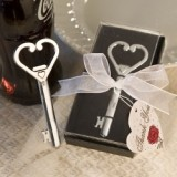 FashionCraft Heart Accented Key Bottle Opener Favor
