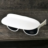 FashionCraft Unique White Sunglasses and Visor Combination